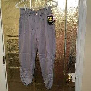 NWT Wilson women's gray fast pitch softball pants